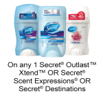 Printable Coupon To Save $0.75 On Secret Products On pgEveryday