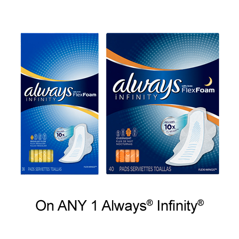 New Always Printable Coupon –  $1 Off Any Always Product On pgEveryday