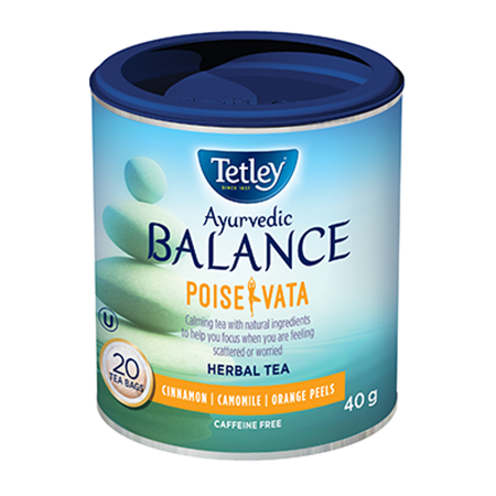 Get Tetley Ayurvedic Balance Tea Voucher –  $1 Off Any Tetley Ayurvedic Balance Tea Product