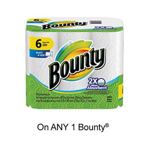 Get New Printable Voucher To Save $1 On Bounty Products On pgEveryDay
