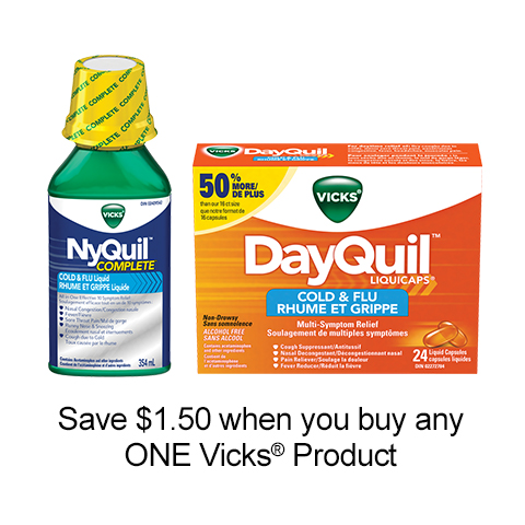 Get This New Vicks Printable Coupon To Save $1.50