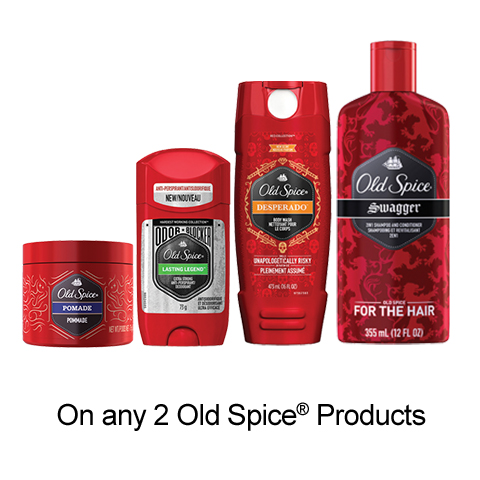 SmartSource: New Old Spice Printable Voucher –  $2 Off Any Old Spice Product