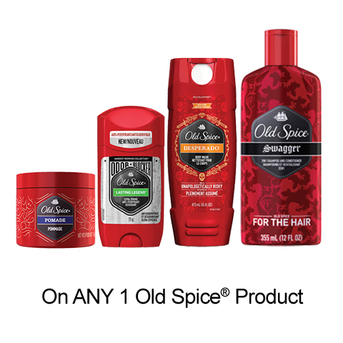 Old Spice Printable Coupon –  $1 Off Any Old Spice Product