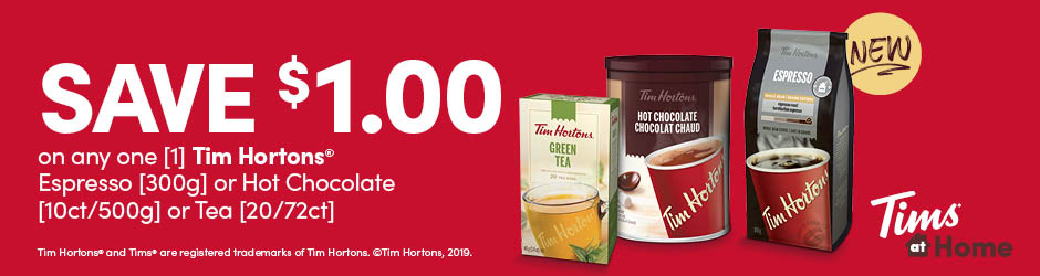 New Tim Hortons Espresso Or Hot Chocolate Or Tea Voucher To Print For $1 On Walmart