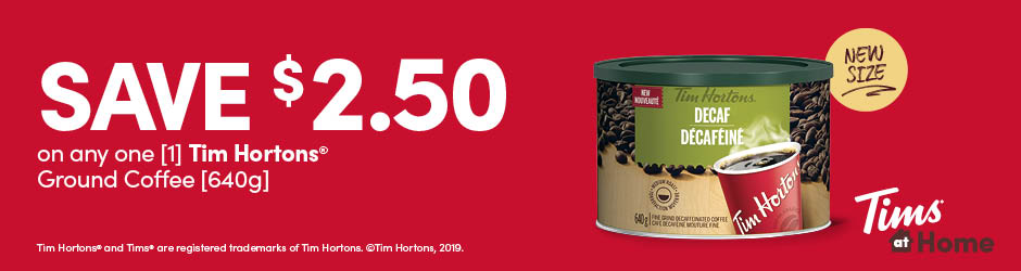 Print This Tim Hortons Ground Coffee [640g] Coupon And Save $2.50 !