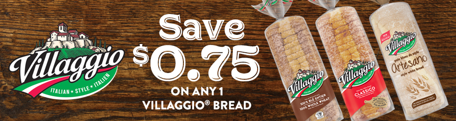 Villaggio Bread Mail Voucher To Save $0.75 By Walmart
