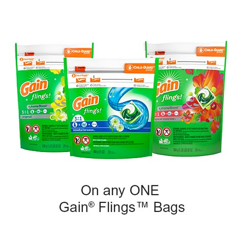 Get Gain Printable Voucher –  $1 Off Any Gain Product