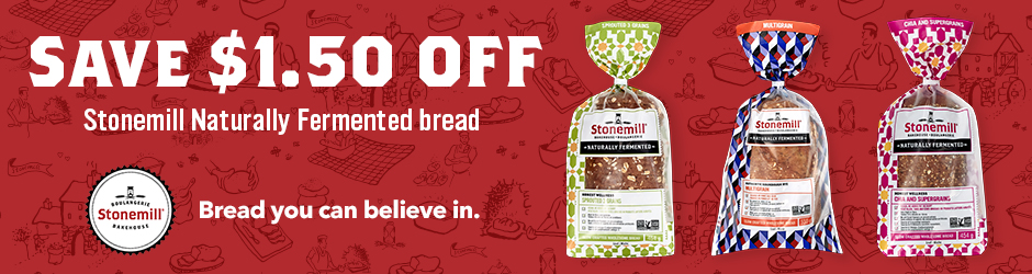 Get Stonemill Naturally Fermented Bread Printable Coupon –  $1.50 Off Any Stonemill Naturally Fermented Bread Product On Walmart