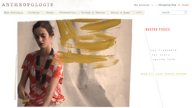 Anthropologie Online Store