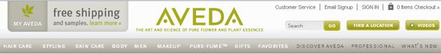 Aveda Online Store