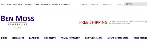 Ben Moss Jewelry Online Store