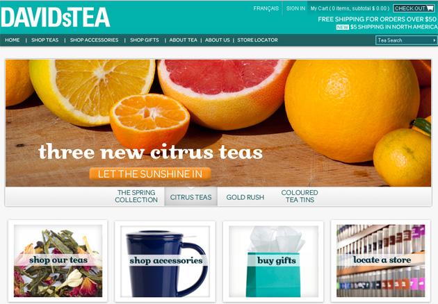 David S Tea Online Store