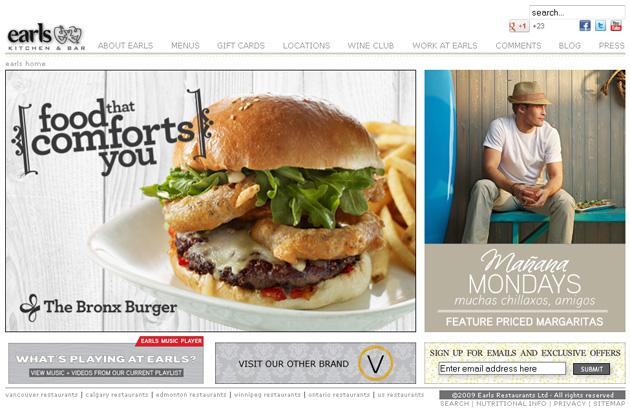 Earls Online Restaurant