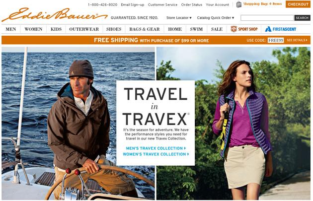 Eddie Bauer Online Store Flyer