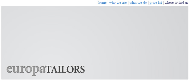 Europa Tailors Online Store