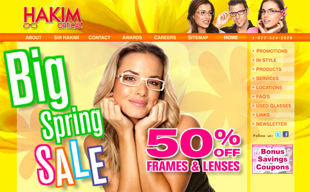 Hakim Optical Online Store