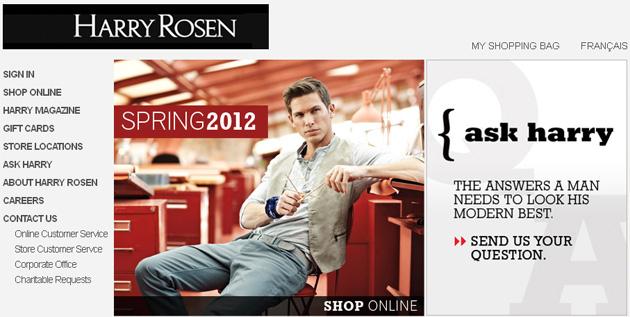 Harry Rosen Online Store