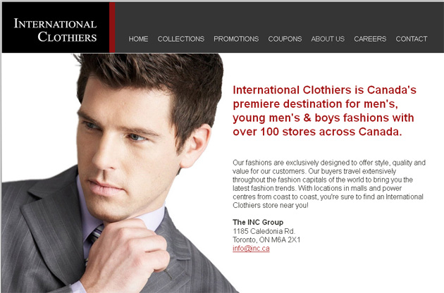 International Clothiers Online Store