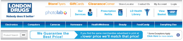 London Drugs Store Online