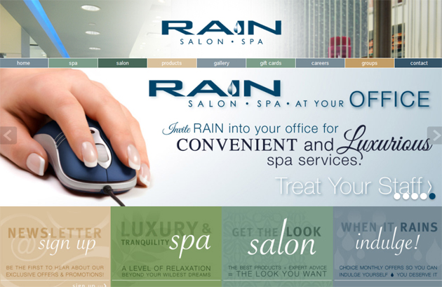 Rain Salon Spa Online