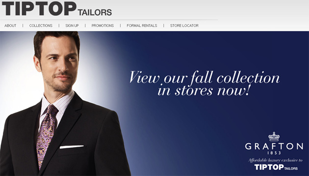 Tip Top Tailors Menswear Online Store